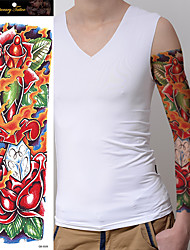 1Pc Temporary Tattoo Sticker Rose Flower Design Full Flower Arm Body Art Big Large Tattoo Sticker New