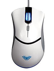 Aula usb 4 touches fps 500hz jeu souris blanc avec câble de 180cm
