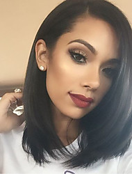 Cheap 150% Density Short Bob Glueless Full Lace Human Hair Lace Wigs with Baby Hair 8''-14'' Short Straight Hair Wigs 100% Brazilian Virgin Human Hair