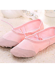 Women's Ballet Canvas Fabric Flats Practice Blushing Pink