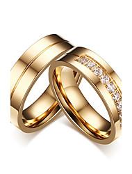Для пары Кольца для пар Цирконий Простой стиль Классика Elegant Цирконий Титановая сталь Круглый Бижутерия НазначениеСвадьба Вечерние