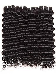 Cabelo Humano Ondulado Cabelo Brasileiro Encaracolado 6 meses 4 Peças tece cabelo