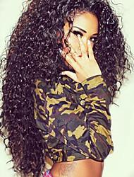 Vendita calda! Parrucche ricci di capelli umani brasiliani di capelli umani di 100% parrucche di fronte del merletto di densità di 150%
