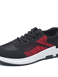 Men's Sneakers Comfort Knit Spring Fall Athletic Casual Outdoor Tennis Comfort Lace-up Flat Heel Gray Black Flat