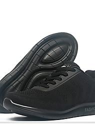 Men's Sneakers Light Soles Knit Tulle Summer Fall Athletic Casual Outdoor Low Heel Black Dark Blue Ruby Under 1in