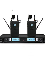 UHF Wireless Karaoke System With Dual  Body pack Lapel  Microphone