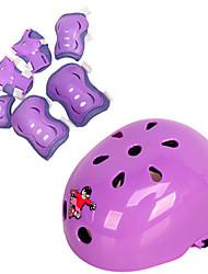 Niños Equipo de protección Rodilleras, coderas y muñequeras Casco de patinaje para Ciclismo Patinaje sobre hielo Skateboarding Patines en