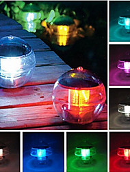 7 Colors Changing Waterproof Rainbow Pool Solar Floating LED Light Lamp Ball