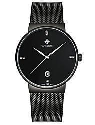 WWOOR Men's Sport Fashion Business Wristwatch Unique Creative Casual Watches Quartz Stainless Steel Hodinky Hours Relogio Masculino Feminino Clock