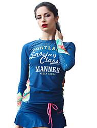 Femme La navigation de plaisance Résistant aux ultraviolets Elasthanne Térylène Tactel Tenue de plongée Manches LonguesTee-shirts