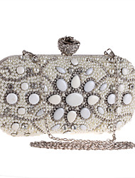 L.WEST Women's fashion pearl Dinner Bag