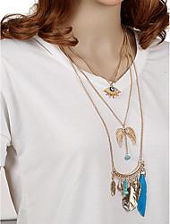 Women's Choker Necklaces Pendant Necklaces Statement Necklaces Geometric Irregular Metal Alloy ResinTassels Handmade Fashion Bohemian