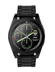 Men's Smart Watch Digital Stainless Steel Band Black Silver