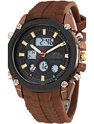 Муж. Модные часы Цифровой Pезина Группа Коричневый
