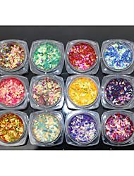 12PCS Nail Art Fish Powder  The Diamond Sequins 2g