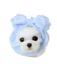 Собака Банданы и шляпы Одежда для собак На каждый день Бант Желтый Синий Розовый