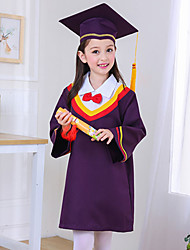 Children's Dr Lovely Kindergarten Robe Doctorial Hat Graduation Gown Stage Performance Clothing Two-Piece Dress