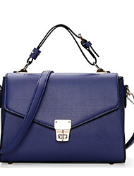 Women Shoulder Bag PU All Seasons Casual Outdoor Square Clasp Lock Blushing Pink Red Blue