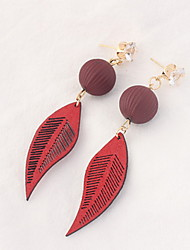 Drop Earrings Women's Euramerican Personalized Leaf 6 Colors Daily Party Gift Movie Jewelry