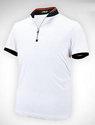 Herrn Kurzarm Golf POLO Shirt Oberteile Anti-Falten Atmungsaktiv Komfortabel Golfspiel