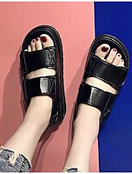 Mujer Sandalias Confort PU Verano Casual Blanco Negro Plata 5 - 7 cms