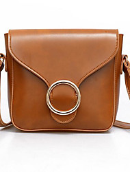 Women Shoulder Bag PU All Seasons Casual Outdoor Square Magnetic Wine Brown Black