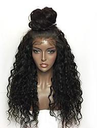 Mujer Pelucas sintéticas Encaje Frontal Largo Rizado Negro Peluca afroamericana Para mujeres de color Entradas Naturales Actualizar Con