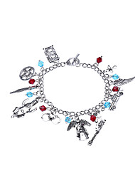 Lureme® Women's Charm Bracelet Jewelry Rainbow Handmade Fashion Punk Magnetic Therapy Luxury DIY Alloy Circle Jewelry ForBirthday Party/ Evening