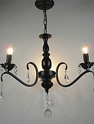 Crystal Chandelier European Style Wrought Iron Living Room Lamp  Creative Personality Bedroom Restaurant Candle Lamps And Lanterns