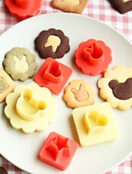8 Peças Moldes de bolos Outros Uso Diário Plásticos Ferramenta baking