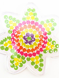 1PCS 5MM Fuse Beads Clear Template Pegboard Stencil Flower Shape Hama Perler Beads Pegboard Kid DIY Educational Craft Toy Jigsaw Puzzle Random Color