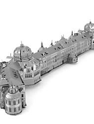 Quebra-cabeças Quebra-Cabeças 3D Quebra-Cabeças de Metal Blocos de construção Brinquedos Faça Você Mesmo Redonda Alumínio