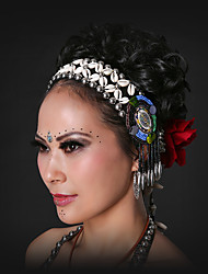 Belly Dance Headpieces Women's Performance Shell Sequined and Tassel(s) 1 Piece Bohemian Theme Tribal Belly Dance Accessories