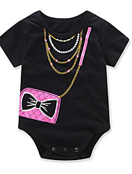 Baby Fashion Geometic Print One-Pieces,Cotton Summer Short Sleeve