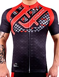 CYCEARTH Cycling Jersey Men's Short Sleeve Bike Jersey Bicycle MTB Sport Shirt Wear Clothing Clothes Fast Dry Lightweight 100% Polyester