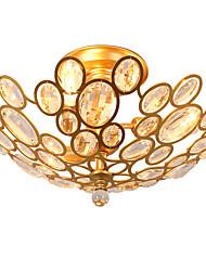LightMyself 3 Lights Golden Modern Crystal Ceiling Lamp Indoors Lights  for Living Room Bedroom Dining Room