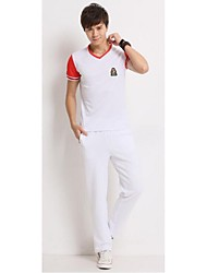 Cheerleader Costumes Outfits Women's Performance Polyester Appliques 2 Pieces Sleeveless Short Sleeve Natural Tops Pants