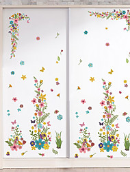 Wall Stickers Wall Decas Style Color Flower Vine PVC Wall Stickers