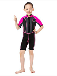 Kids' Ultraviolet Resistant Nylon LYCRA® Diving Suit Half Sleeve Rash guard Tops Bottoms-Swimming Beach Surfing Sailing WatersportsAll