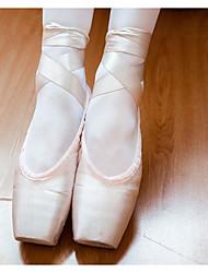 Femme Ballet Dentelle Soie Plates Entraînement Rose Chair