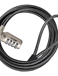 My-l701g trava de laptop em aço carbono combinação de senha de 4 dígitos 1,8 m de espessura cabo de aço segurança senha bloqueio bloqueio