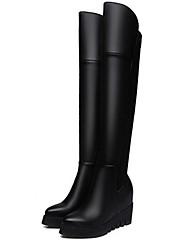 Women's Boots Comfort Fashion Boots PU Winter Casual Comfort Fashion Boots Black 2in-2 3/4in
