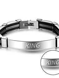 http//www.yuhuagu.com/Men's chain fashion stainless steel silicone bracelet can be carved European and American foreign trade BA101590