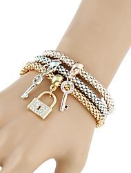 Femme Chaînes & Bracelets Bracelets de rive Bracelets Mode Style Punk Pierre Alliage de métal Strass MétaliqueForme de Cercle Forme