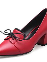 Damen Schuhe PU Frühling Komfort Outdoor Mit Für Normal Schwarz Grau Rot