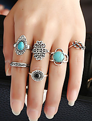 1Set Women's Ring Circular Metal Alloy Resin Alloy Circle Jewelry For Birthday Party/Evening Date