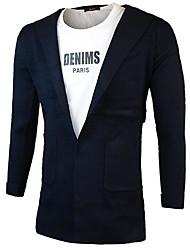 Men's Casual Regular Cardigan,Solid Hooded Long Sleeve Polyester Spring Fall Medium Micro-elastic