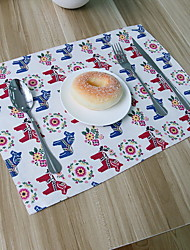 High Quality Korean Pony Cotton And Linen Material Modern Table Placemat 32*45cm