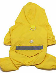 Dog Rain Coat Dog Clothes Waterproof Solid Blue Ruby Yellow