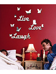 The Butterfly English Letters Specular Adornment Wall Post